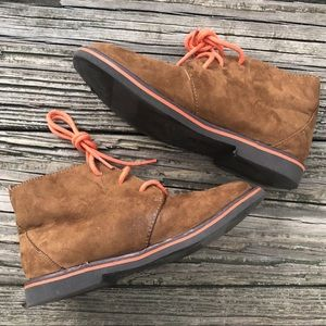 Cole Haan Boys Lil Carlton Boots Shoes Faux Suede